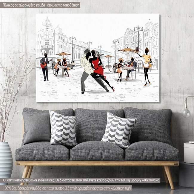 Πίνακας σε καμβά Salsa in the street
