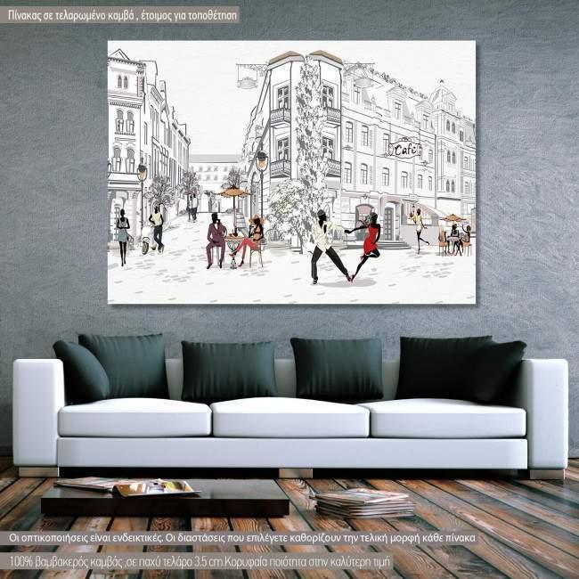 Πίνακας σε καμβά Dancing in the streets