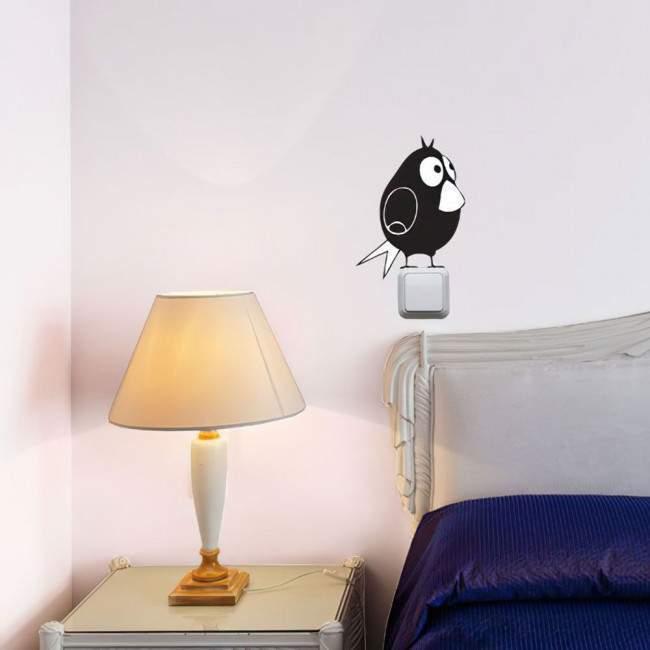 Αυτοκόλλητο τοίχου-διακόπτη Χαριτωμένα ζωάκια