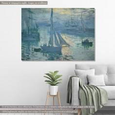 Πίνακας ζωγραφικής  Sunrise, Monet C, αντίγραφο σε καμβά