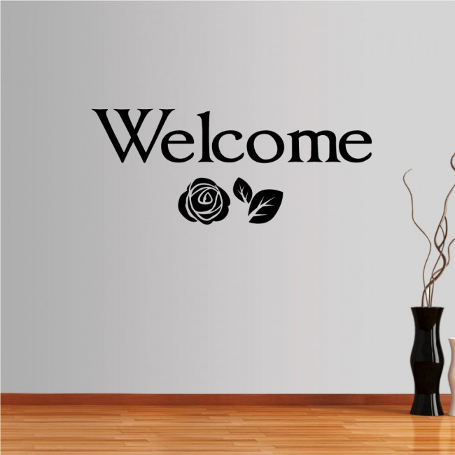 Wall stickers phrases, Welcome!