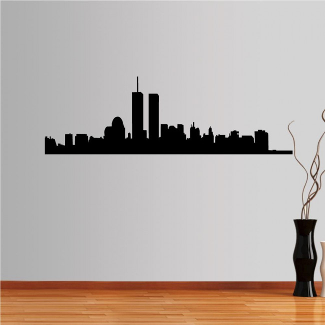 Wall stickers New York, twin towers, outline
