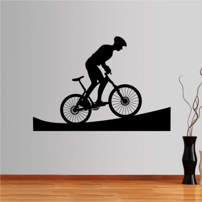 Αυτοκόλλητο τοίχου Ποδηλάτης