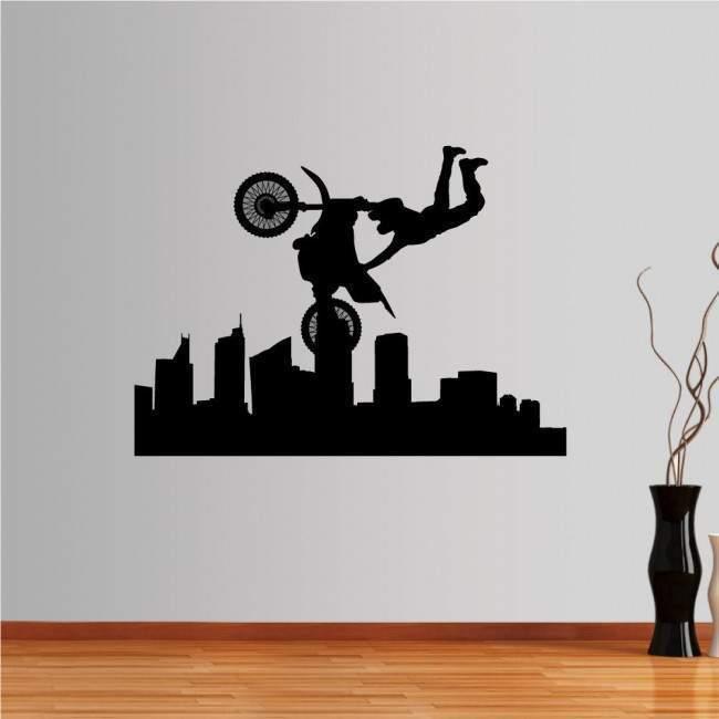 Αυτοκόλλητο τοίχου Ιπτάμενος Μοτοσικλετιστής