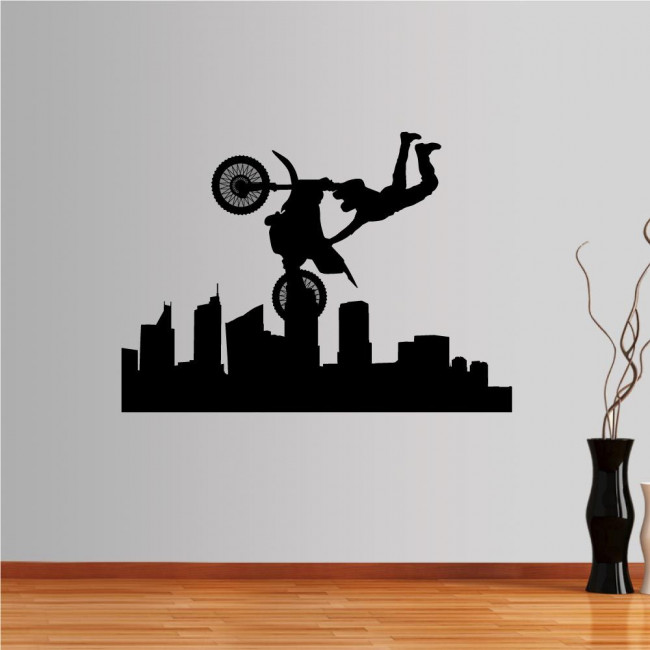 Wall stickers Flying Motorcyclist
