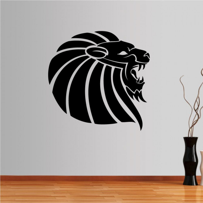 Wall stickers Lion (tribal lines)