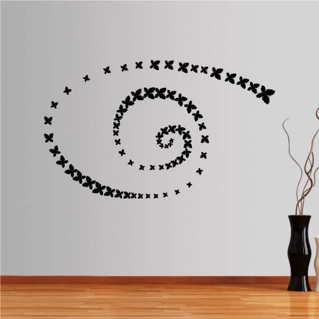 Αυτοκόλλητο τοίχου Σμήνος Πεταλουδες
