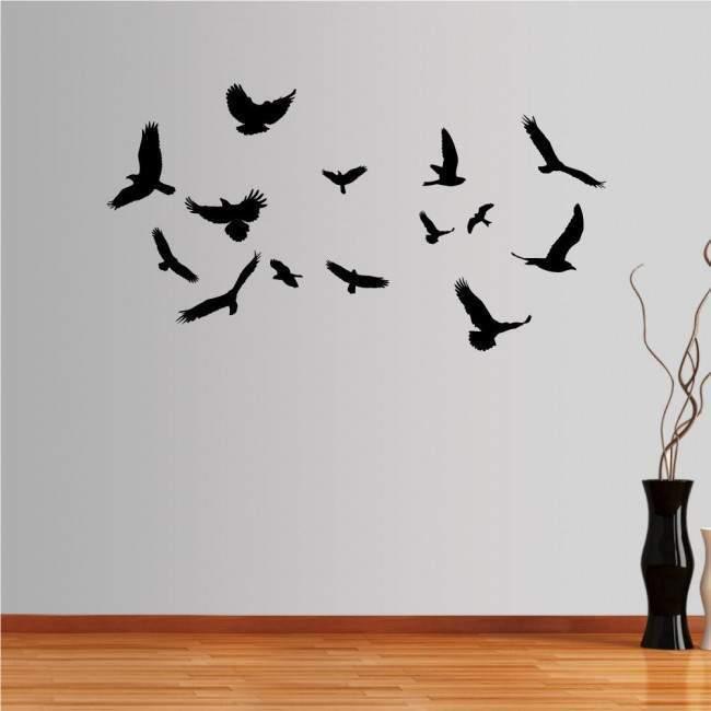 Αυτοκόλλητο τοίχου Σμήνος πουλιών