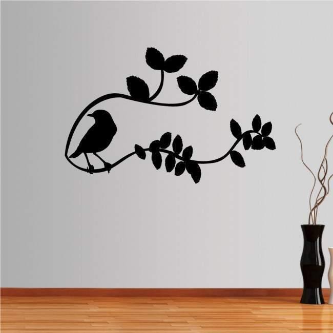 Αυτοκόλλητα τοίχου Πουλί σε κλαδί