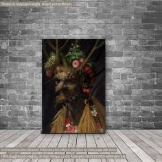 Canvas print  Four seasons in one head, Arcimboldo G