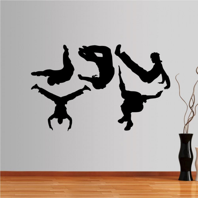 Αυτοκόλλητο τοίχου Συλλογή κινήσεων Parkour