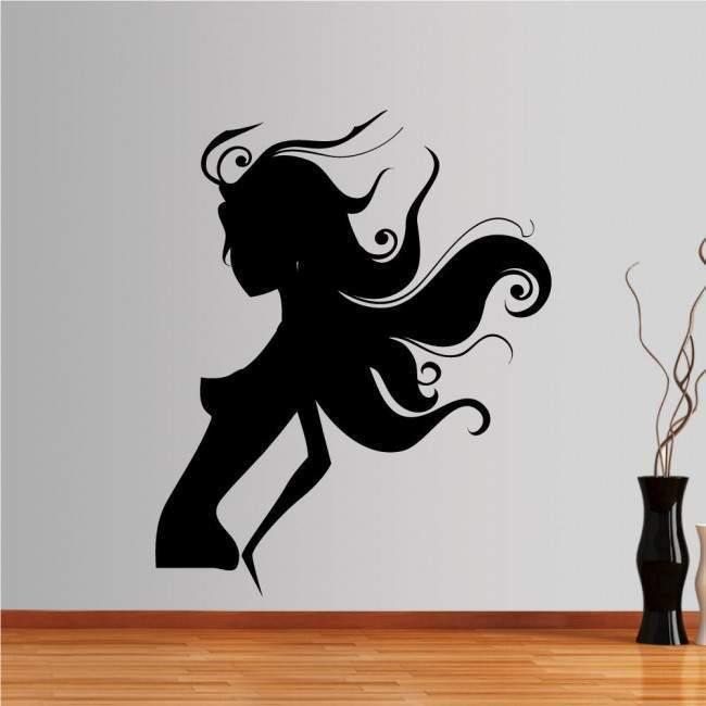 Αυτοκόλλητο τοίχου μοντέρνο, μοδάτο, κορίτσι, Fashion girl