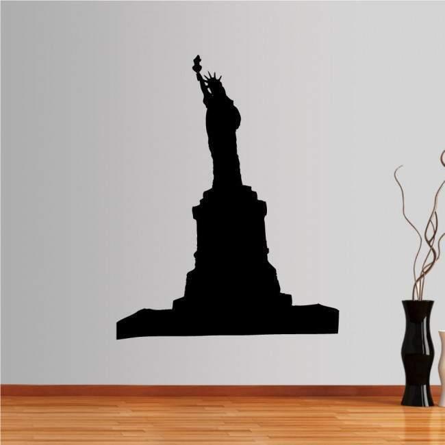 Αυτοκόλλητο τοίχου Νέα Υόρκη, Άγαλμα Ελευθερίας, περίγραμμα