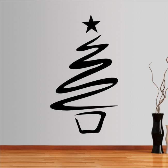 Christmas tree αυτοκόλλητο τοίχου, βιτρίνας