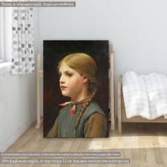 Πίνακας ζωγραφικής  Portrait of a girl, Anker A. S, αντίγραφο σε καμβά