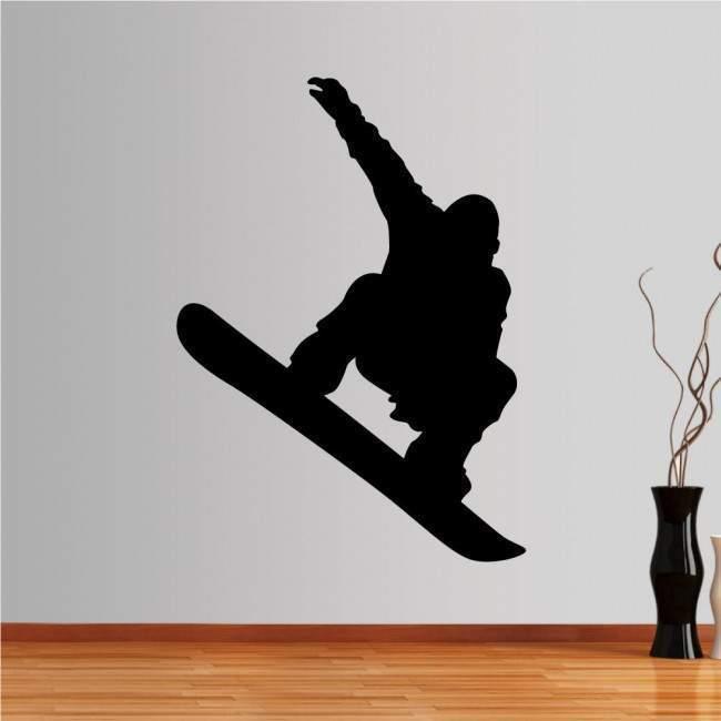 Αυτοκόλλητο τοίχου Snowboard