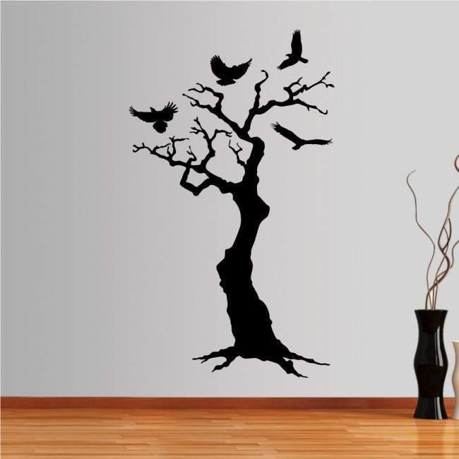 Αυτοκόλλητα τοίχου Δέντρο και πουλιά