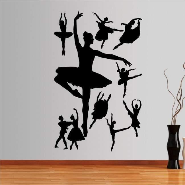 Αυτοκόλλητο τοίχου Φιγούρες μπαλέτου 1