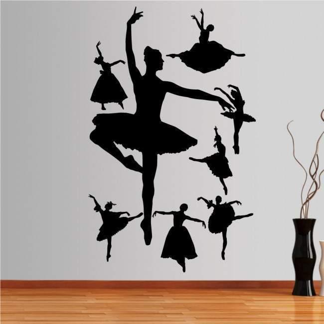 Αυτοκόλλητο τοίχου Φιγούρες μπαλέτου 2