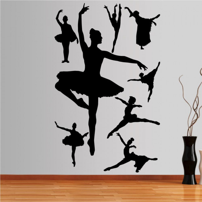 Αυτοκόλλητο τοίχου Φιγούρες μπαλέτου 3