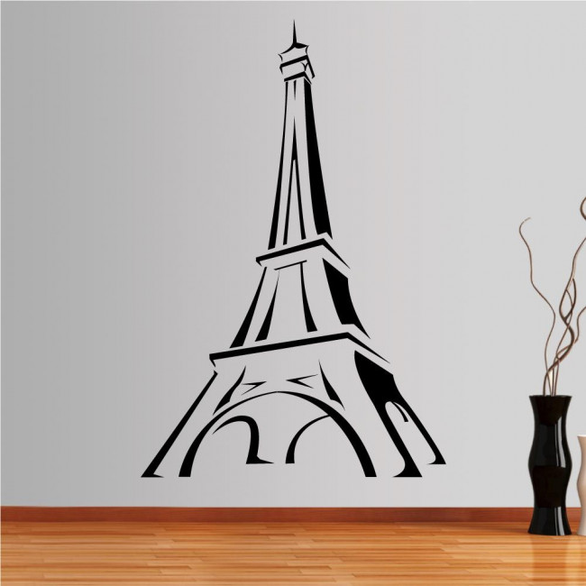 Wall stickers The Eiffel Tower in simple lines