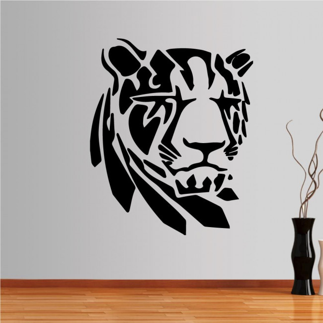 Wall stickers Tiger  (tribal lines)
