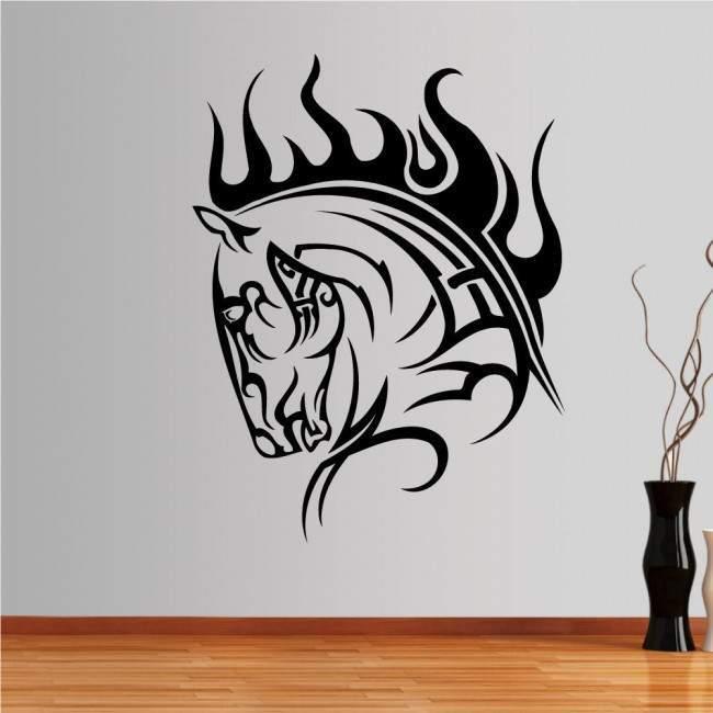 Αυτοκόλλητο τοίχου Άλογο (tribal lines)