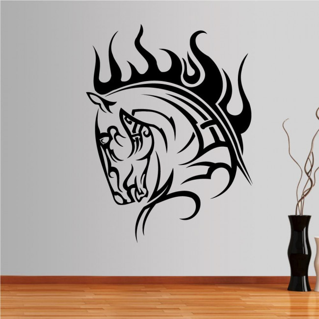 Wall stickers Horse (tribal lines)