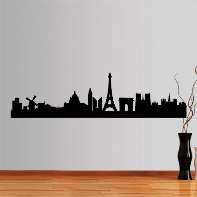 Αυτοκόλλητο τοίχου Παρίσι, Περίγραμμα σημαντικών κτιρίων