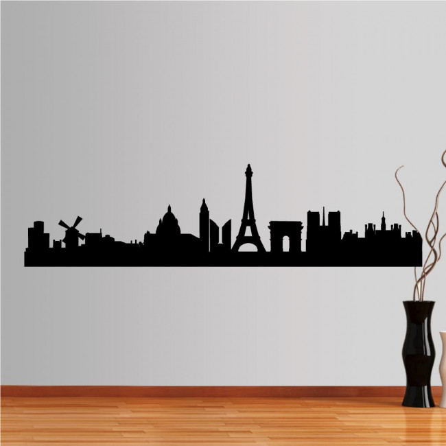 Wall stickers Paris, Outline of important buildings