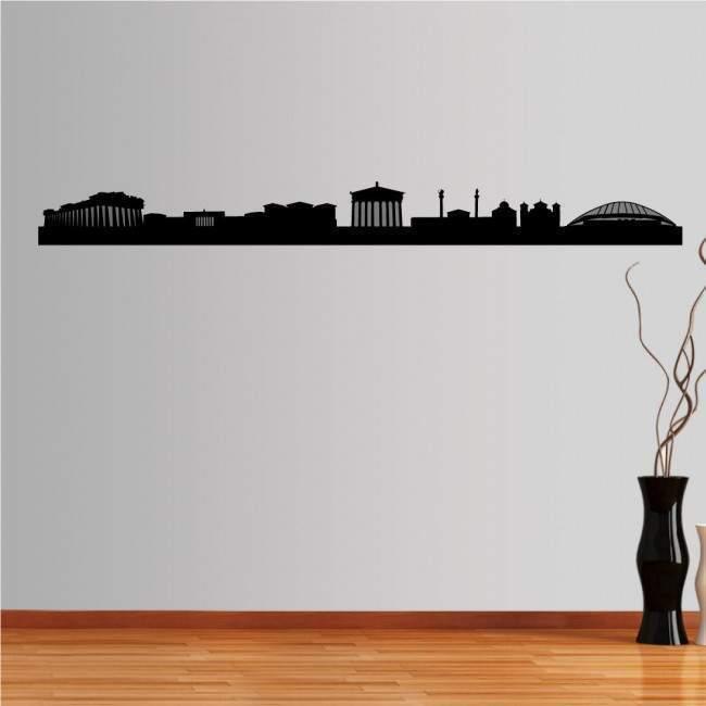 Αυτοκόλλητο τοίχου Αθήνα,  Περίγραμμα σημαντικών κτιρίων