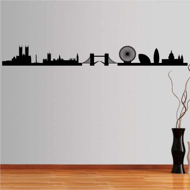 Αυτοκόλλητο τοίχου Λονδίνο, Περίγραμμα σημαντικών κτιρίων
