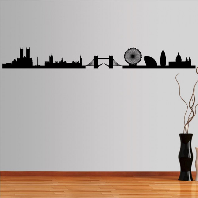 Wall stickers London, Outline of important buildings