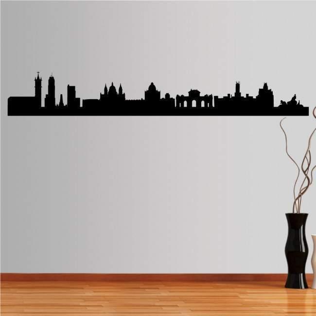 Αυτοκόλλητο τοίχου Μαδρίτη,  Περίγραμμα σημαντικών κτιρίων