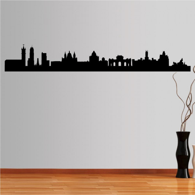 Wall stickers Madrite,  Outline of important buildings