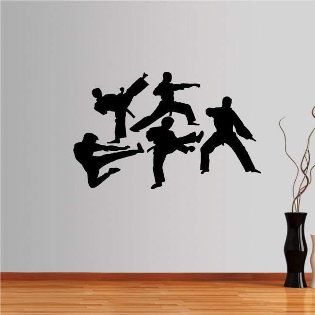 Αυτοκόλλητο τοίχου Συλλογή πολεμικών τεχνών