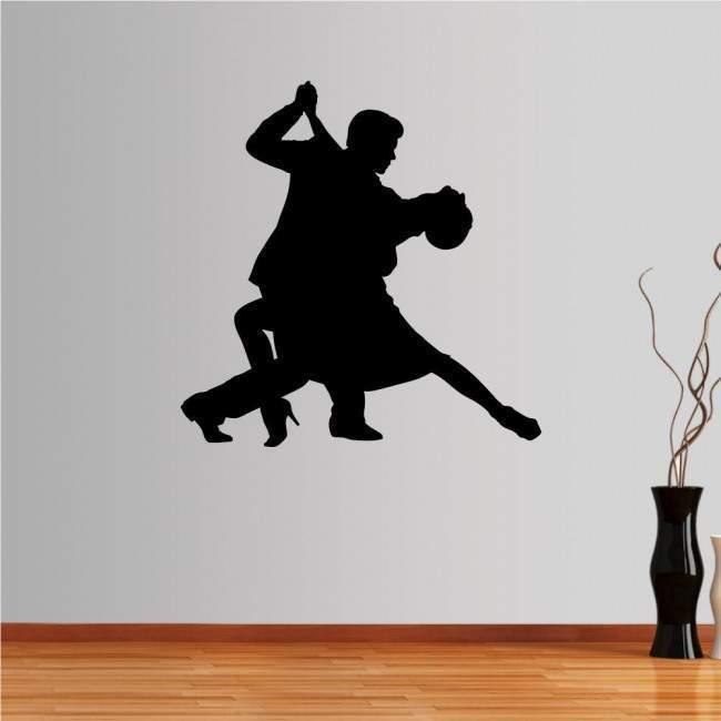 Αυτοκόλλητο τοίχου Ζευγάρι χορευτών