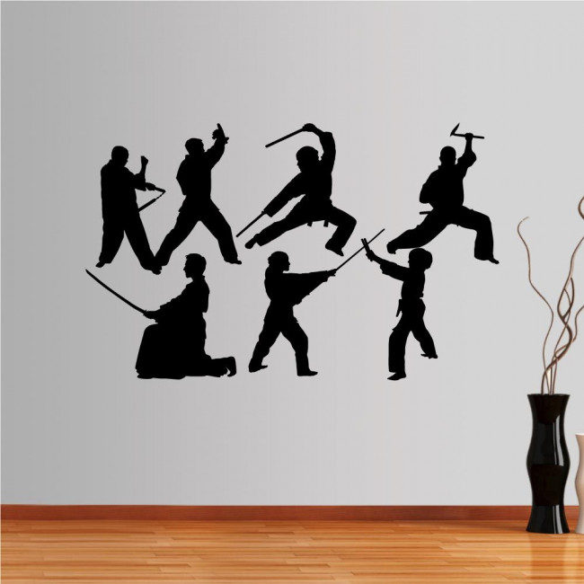 Wall stickers Collection of martial arts with weapons