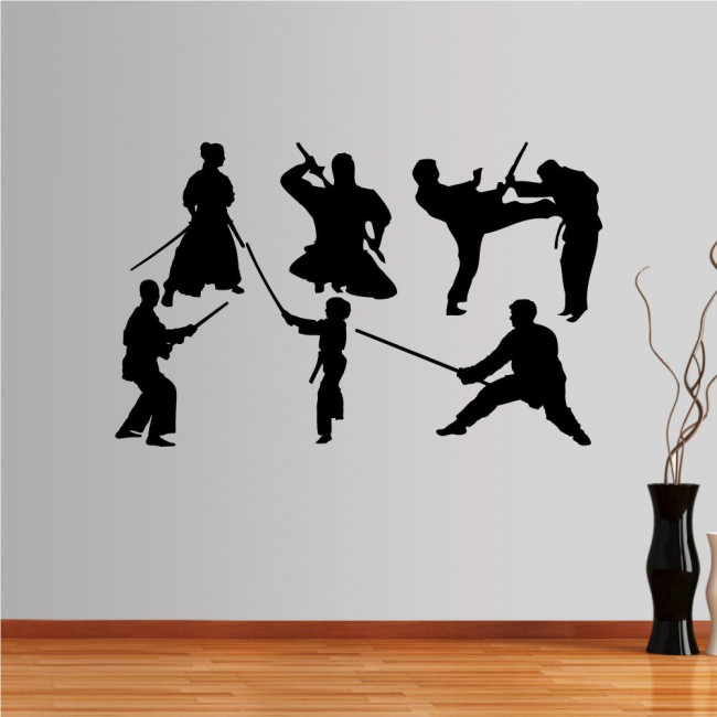 Wall stickers Collection of martial arts with weapons 2