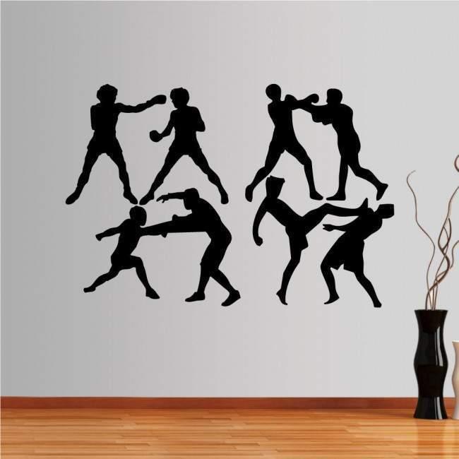 Αυτοκόλλητο τοίχου Συλλογή πολεμικές τέχνες σώμα με σώμα