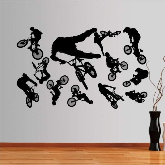 Αυτοκόλλητο τοίχου Φιγούρες  BMX