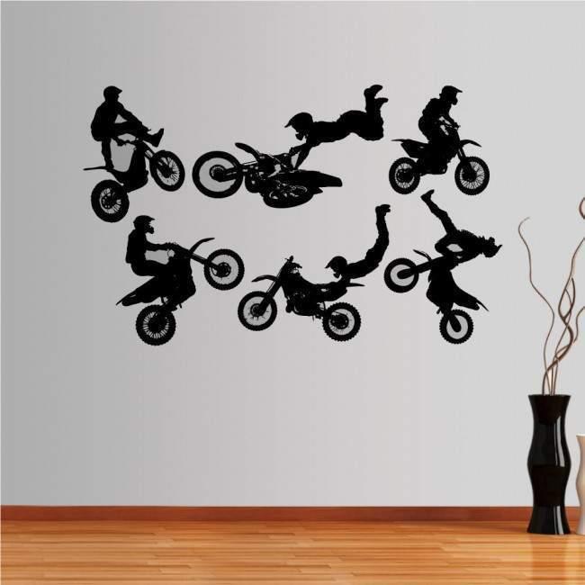 Αυτοκόλλητο τοίχου Φιγούρες moto 2