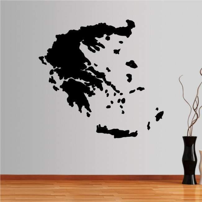 Αυτοκόλλητο τοίχου Ελλάδα χάρτης