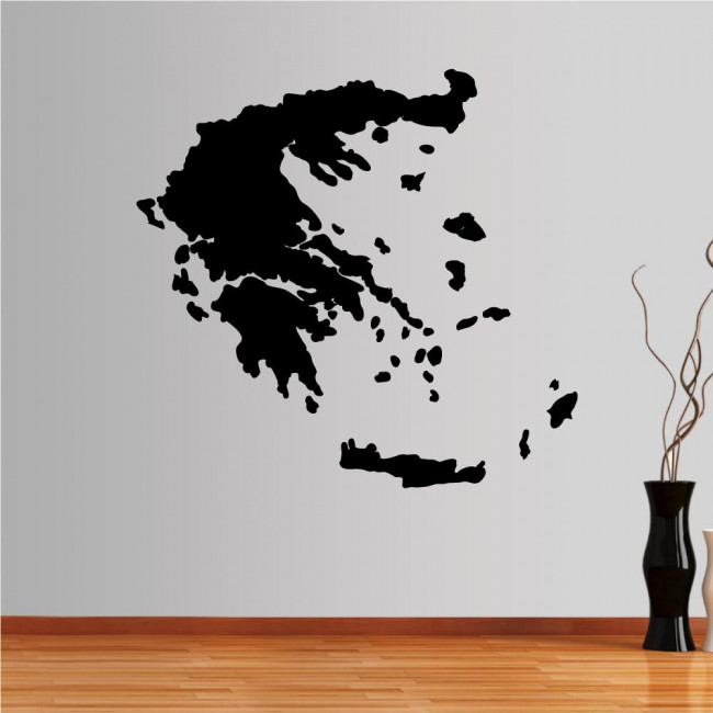 Wall stickers Map of Greece