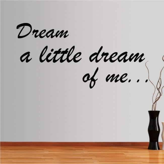 Αυτοκόλλητο τοίχου φράσεις. Dreams...