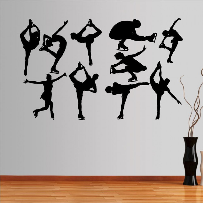 Wall stickers Ice skating figures