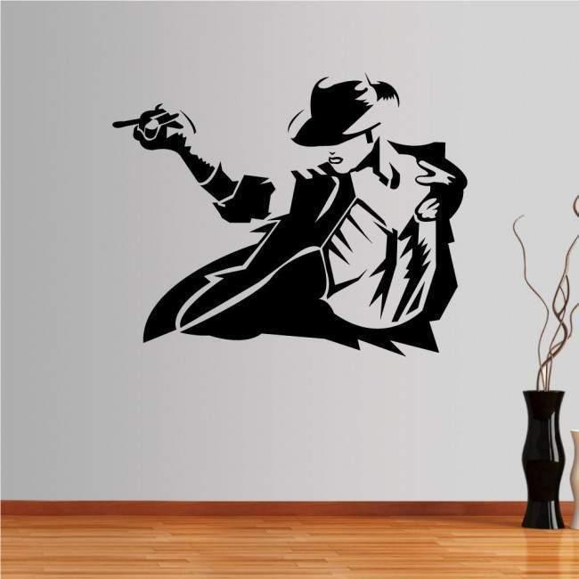 Αυτοκόλλητο τοίχου Michael Jackson figure 2