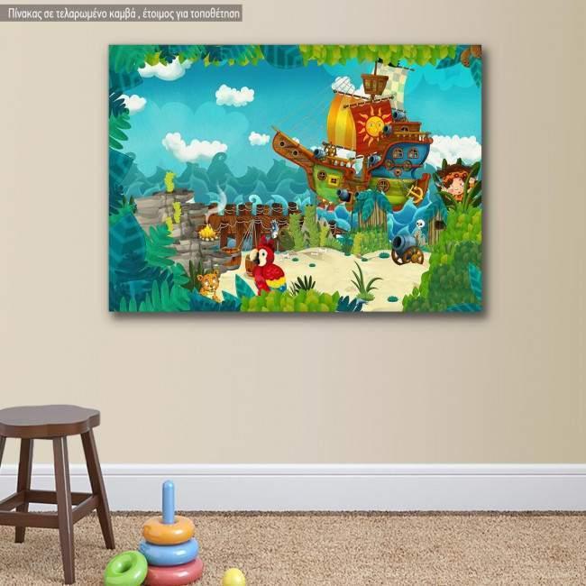 Πίνακας παιδικός σε καμβά Πειρατές