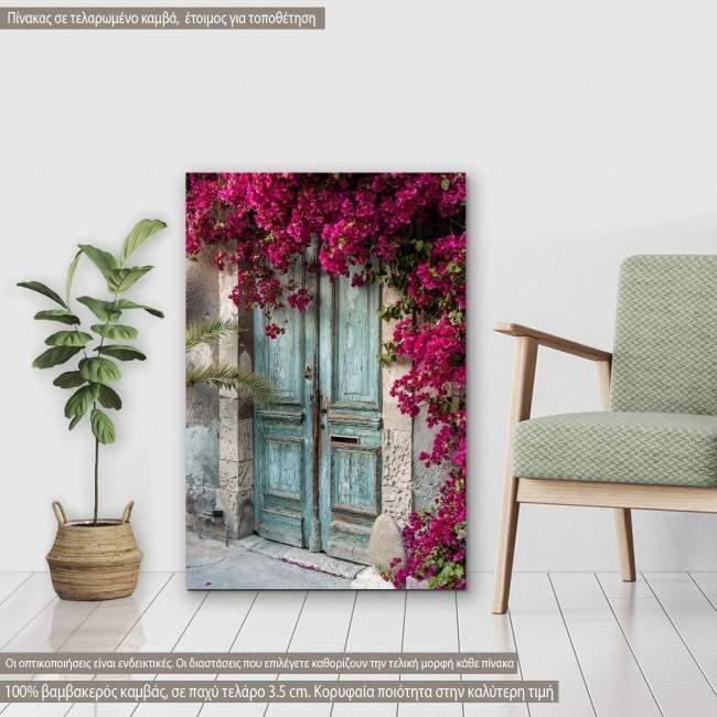 Πίνακας σε καμβά Old wooden door