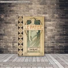 Πίνακας ζωγραφικής  Le Pater, Mucha A, αντίγραφο σε καμβά